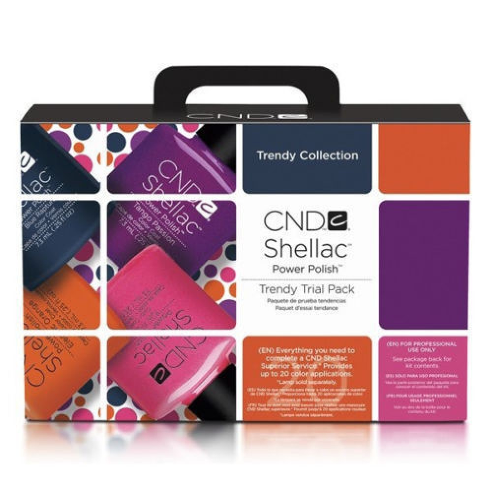 Creative CND Shellac Trendy Starter Trial Pack Kit Collection
