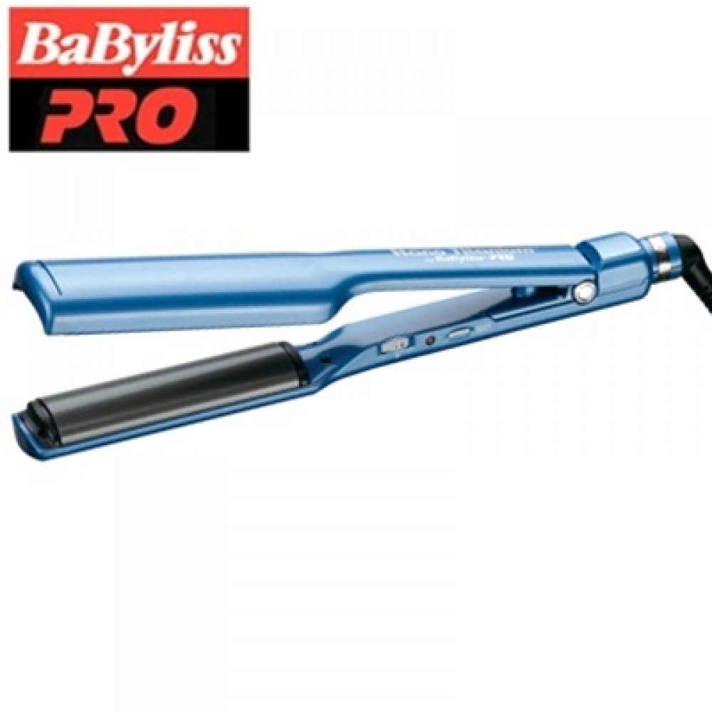 "Babyliss Nano Titanium and Ceramic Curved Plate Iron / Deep Curve Styler (1-1/2"" inch) - BNTC3556C"