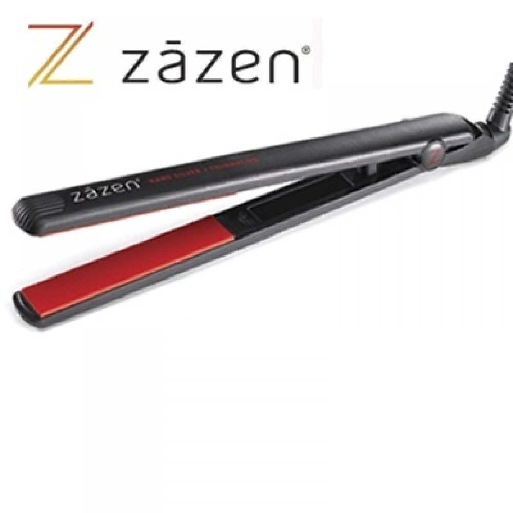 "Zazen Nano-Silver, Tourmaline and Ceramic Flat Iron (1"" inch) - Z-FOCUS"