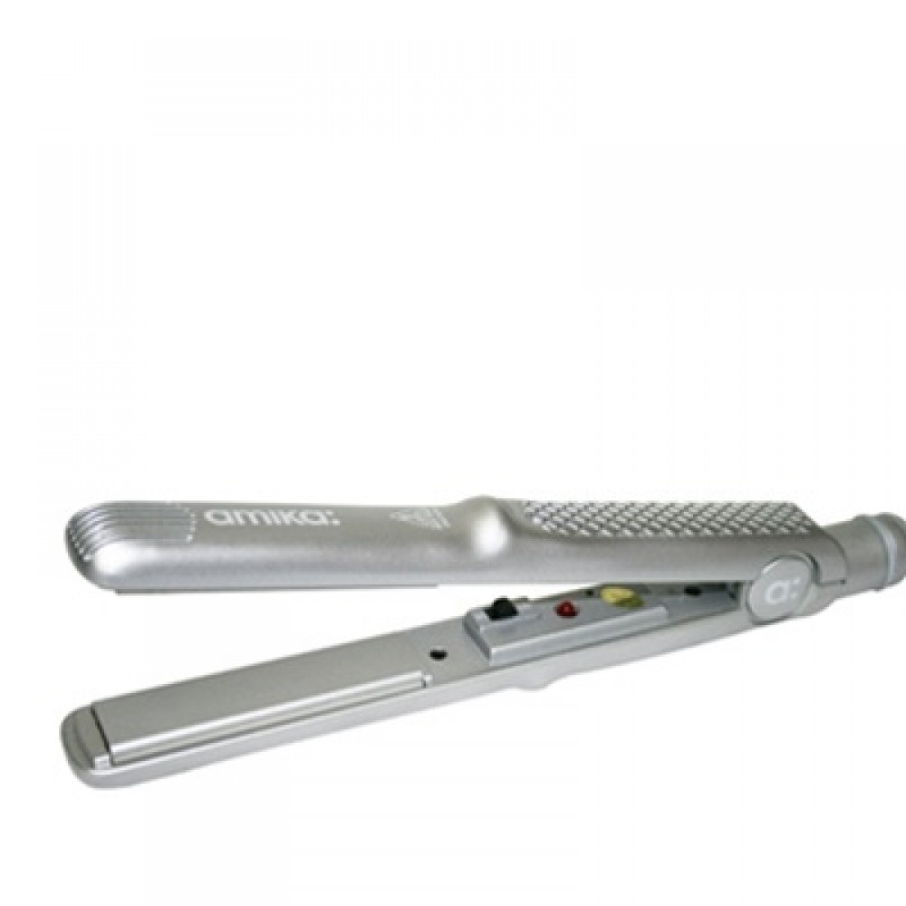 """Amika Love Your Hair Solid Silver Tourmaline Ceramic Pro Styler / Flat Iron (1"""" inch)"""