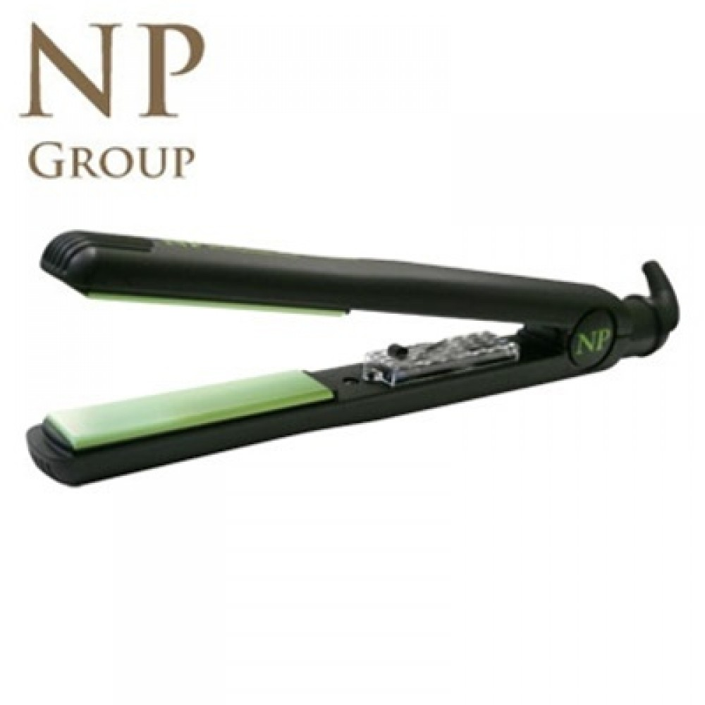 "NP Group Nano Silver & Tourmaline Ceramic Flat Iron (1"" inch) - NPGREEN"
